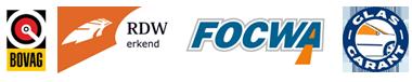 BOVAG - RDW Erkend - FOCWA - GlasGarant